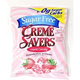 Creme Savers Hard Candy Sugar Free Strawberry & Creme Hard Candy, 2.75-Ounce Bags (1)