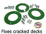 Deck Spindle Reinforcement ring with bolts for John Deere L120 L130 LA135 LA145 LA150 LA170 D170 Set of 3