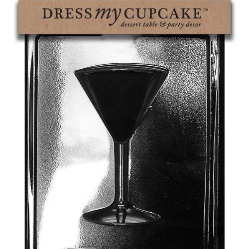 Dress My Cupcake Chocolate Candy Mold, Martini Glass Side 2