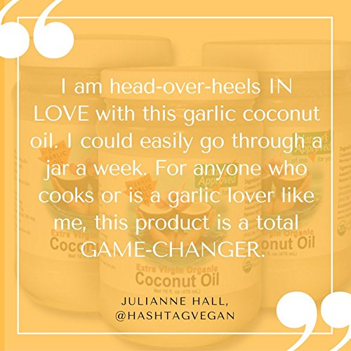 Organic Garlic Coconut Oil (16 oz Garlic) by Nature's Approved (Image #4)