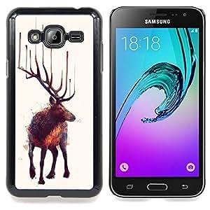 - Moose Art Nature Animal Wild Forest Painting/ Duro Snap en el tel????fono celular de la cubierta - Cao - For Samsung Galaxy J3
