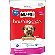 Milk-Bone Brushing Chews Daily Dental Dog Treats, Mini, 7.1 oz Bag (Pack of 5)