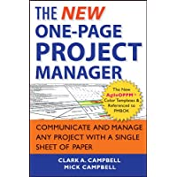 The New One-Page Project Manager: Communicate and Manage Any Project With A Single...