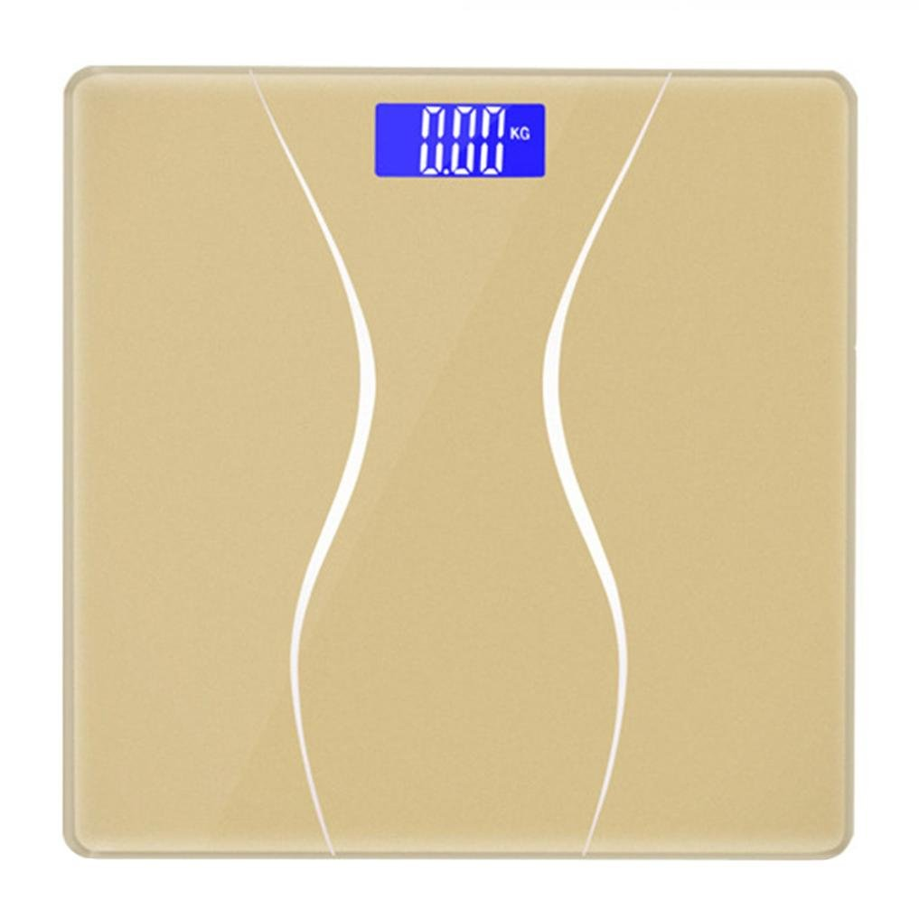 Digital Scale,LtrottedJ New 180KG Electronic LCD Digital Bathroom Body Weight Scale With Battery (Gold)