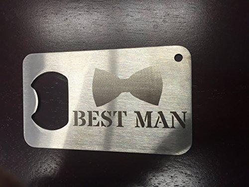 Man Card Best Man bow tie 2 Man Card bottle opener Stainless Steel Made to last bestman