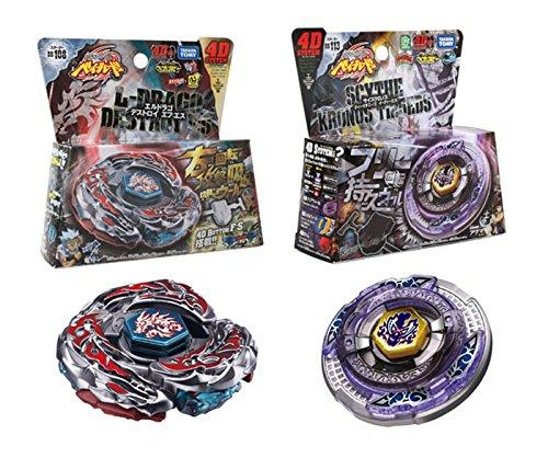 Set of 2 Beyblades Japanese Metal Fusion Starter Set- BB108 Destroy & BB113 Kronos