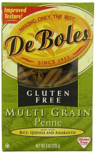 DeBoles Pasta Multigrain Gluten Free Penne, 8-Ounce (Pack of 6)