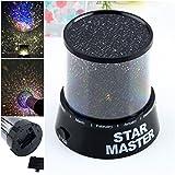 1 Pcs Defectless Popular Nightlight Master Projector LED Night Lamp Kids Starry Cosmos Color Black