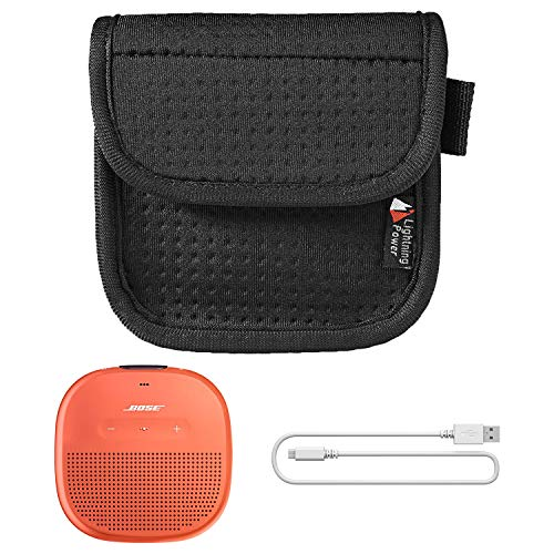 Padded Nylon Waist Pouch with Hanging Loop for Bose Soundlink Micro Portable Speaker ()