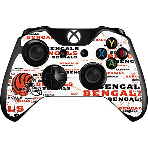 Skinit Cincinnati Bengals - Blast Xbox One Controller Skin - Officially Licensed NFL Gaming Decal - Ultra Thin, Lightweight Vinyl Decal -