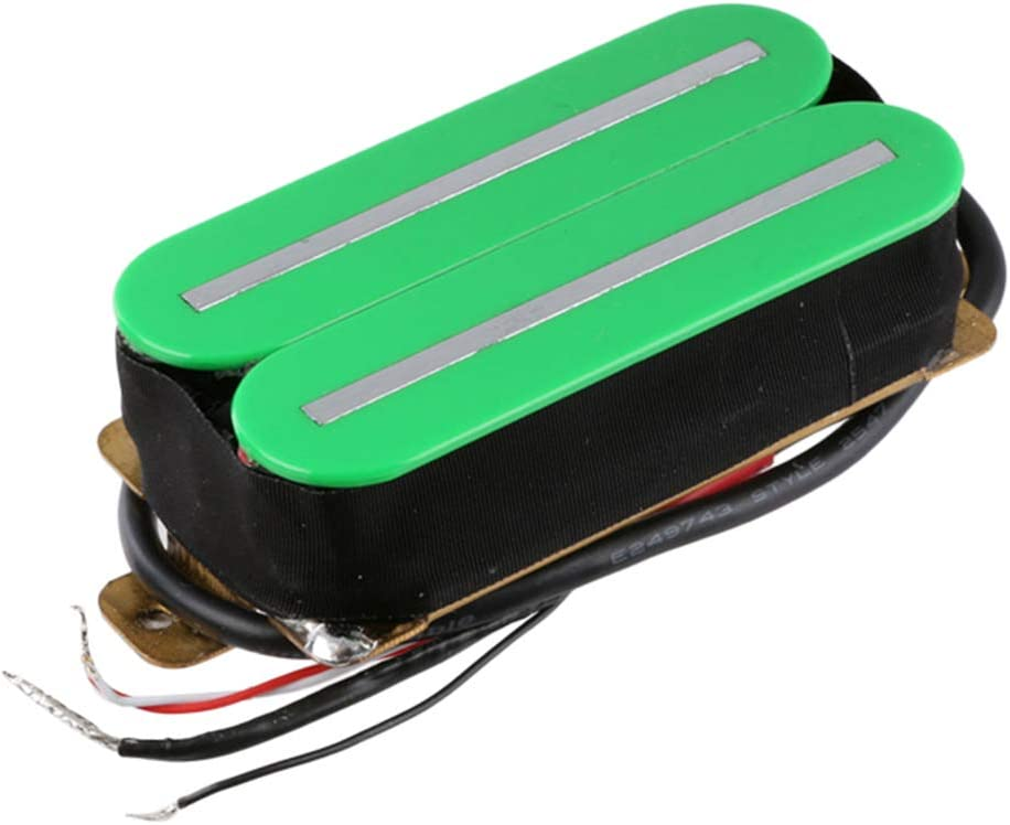 Electric Guitar Electronics Dual Hot Rail Humbucker Green White 4 Pcs Pickup for St Parts Replacement