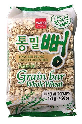 Whole Grain Cakes Rice (KC Commerce Wang Korea Rice Bar 4.26oz Pack of 3 (Whole Wheat Grain Bar))