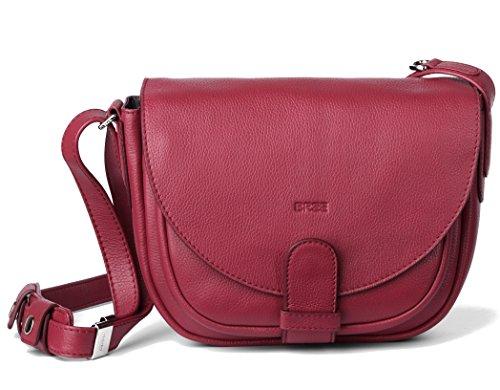 BREE, Borsa a spalla donna Rosso brick red grained 25 cm x 20 cm x 12 cm (B x H x T) brick red grained
