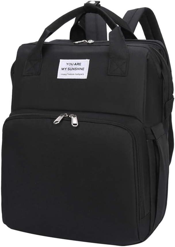 sac /à dos pour b/éb/é multifonctionnel lit l/éger ADIUMA Sac /à langer portable pour berceau sac pour maman lit pliable sac /à langer noir Noir