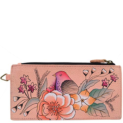 Vintage Garden 1 (Anna by Anuschka Women's, Handpainted Leather Organizer Wallet,Vintage Garden, One Size)