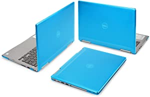 "mCover Hard Shell Case for 13.3"" Dell Inspiron 13 7373/7370 2-in-1 Convertible (Aqua)"