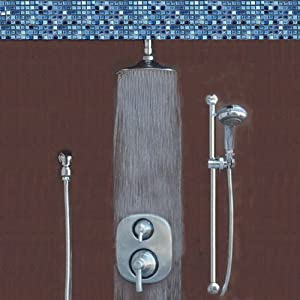 Atlantis 14 Brushed Nickel Rain Shower System Includes