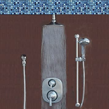 Atlantis 14 Brushed Nickel Rain Shower System Includes Moen Valve And Trim