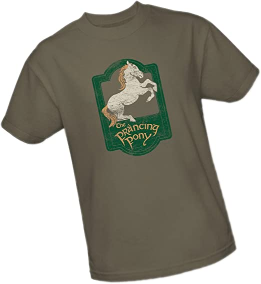 Lord of the Rings PRANCING PONY SIGN Licensed Adult T-Shirt All Sizes