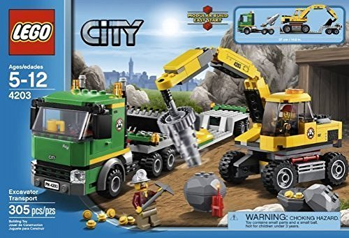 Game / Play LEGO City: Excavator Transport 4203. Minifigure, Playset, Collectible, Toys, Characters Toy / Child / Kid