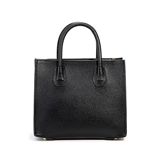 fashion 189 bandoulière femme DISSA Sac portés main main épaule Sac LF Noir à portés en cuir Sac Sac w5aqanCXx