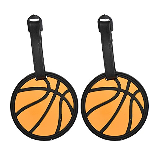 Tag Luggage Basketball - Basketball Sports Fan Luggage Tag Travel ID for Suitcases - Set of 2
