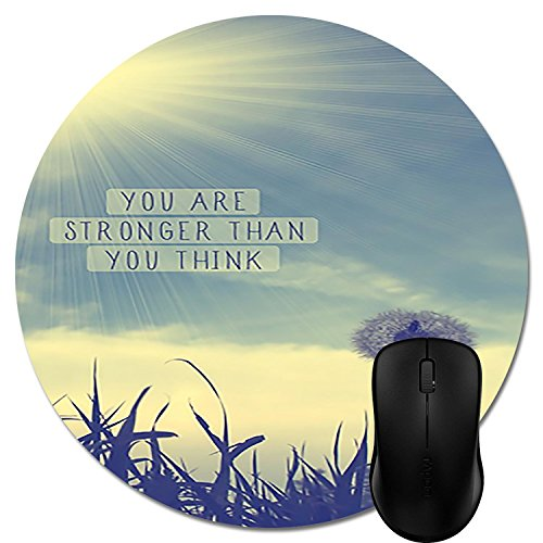 Round Mousepad Best Motivational Quotes Computer Mouse Mat- Stylish, durable office accessory and gift