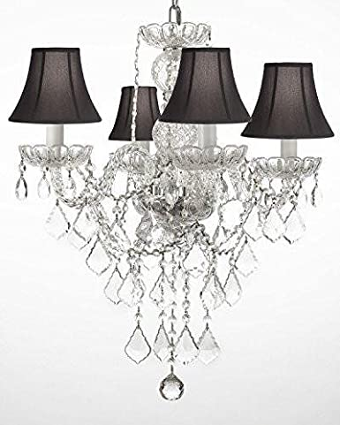 New AUTHENTIC ALL CRYSTAL CHANDELIER CHANDELIERS