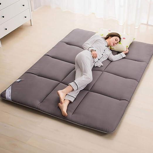 POETRY Alfombrilla de Tatami de algodón Almohadilla de colchón de futón Suave Acolchada Almohadilla de colchón Plegable Topper Almohadilla de Dormir de Piso Transpirable para la Familia-un 100x195: Amazon.es: Hogar