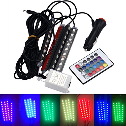 Ecosin Fashion LED for Car Charge Interior RGB Light Accessories Foot Car (Interior Design Accessories)
