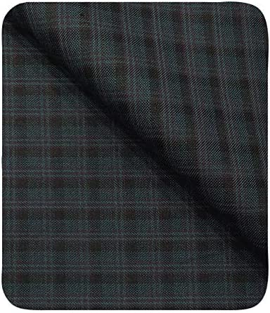 d9d026aa5 Don & Julio Men's Sea Green Terry Rayon Black Checks Unstitched ...