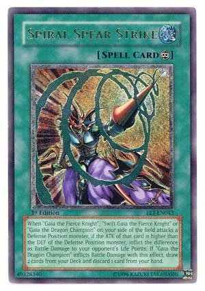 Yu-Gi-Oh! - Spiral Spear Strike (FET-EN043) - Flaming Eternity - Unlimited Edition - Ultimate Rare