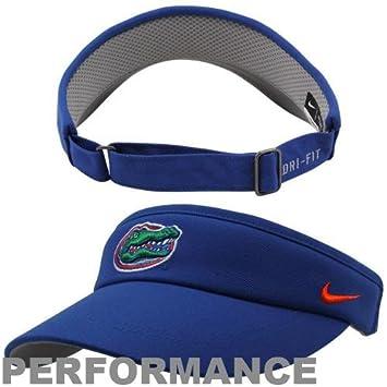 University of Florida Gator hat   Nike Florida Gators Sideline Dri-FIT  Adjustable Performance Visor - Blue 2cbc2abd02b