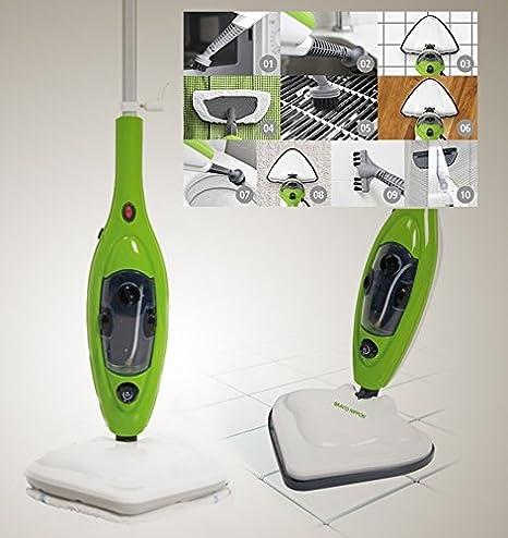 Scopa a Vapore elettrica Lavapavimenti x10 in 1 Steam mop Con ...