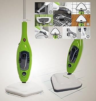 Bravo Nippon - Mopa eléctrica de vapor, con muchos accesorios y paños incluidos. Ideal