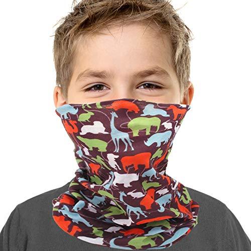 Kids Youth Neck Gaiter Fishing Sun Mask - Junior UV Protection Face Tube Mask Animal