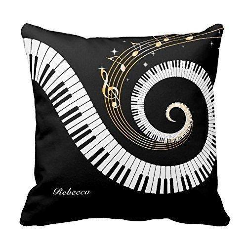 Amazon.com: Personalizado Piano llaves y oro notas musicales ...