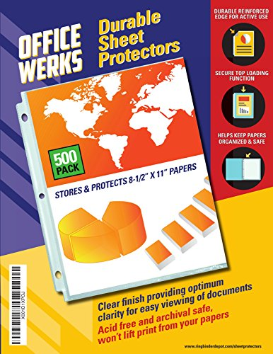 Clear Sheet Protectors, 8.5