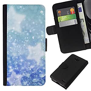 All Phone Most Case / Oferta Especial Cáscara Funda de cuero Monedero Cubierta de proteccion Caso / Wallet Case for LG OPTIMUS L90 // Winter Snowflakes Snow Stars