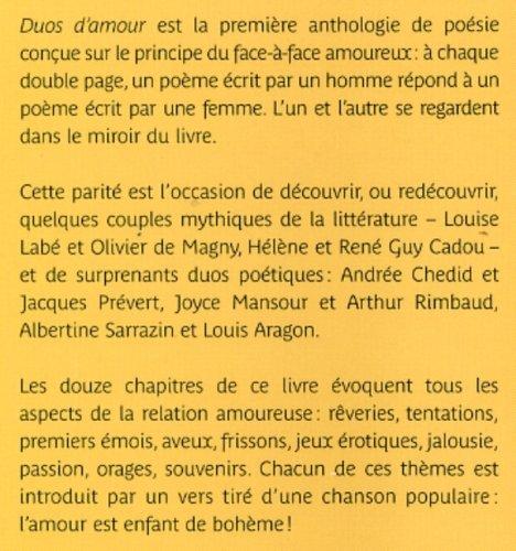 Amazonfr Duos Damour Bruno Doucey Christian Poslaniec