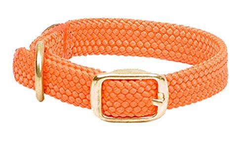 Mendota Pet Double Braid Dog Collar, Orange, 1 x (Mendota Training Collar)