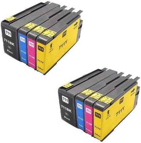 Printing Pleasure 8 Cartuchos de Tinta compatibles para HP ...