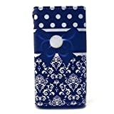 N625 Case,Nokia Lumia 625 Wallet Holster Case,Robot Minions Stylish [Blue Bowknot] PU Leather Button Flip Holster Cover Case For Nokia Lumia 625 [Built-in Card Slots/Cash Pocket]