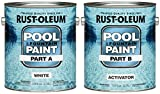 Rust-Oleum 267919 Epoxy Pool and Fountain Paint Kit, Kit, 2-Gallon, White