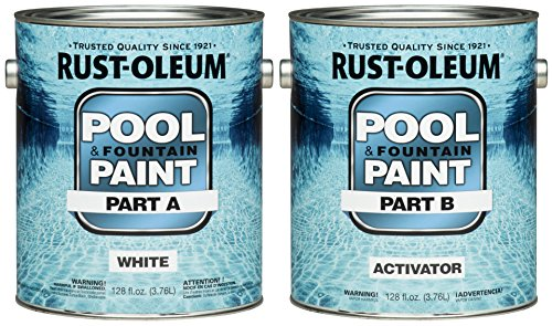 Industrial Epoxy Paint - Rust-Oleum 267919 Epoxy Pool and Fountain Paint Kit, Kit, 2-Gallon, White