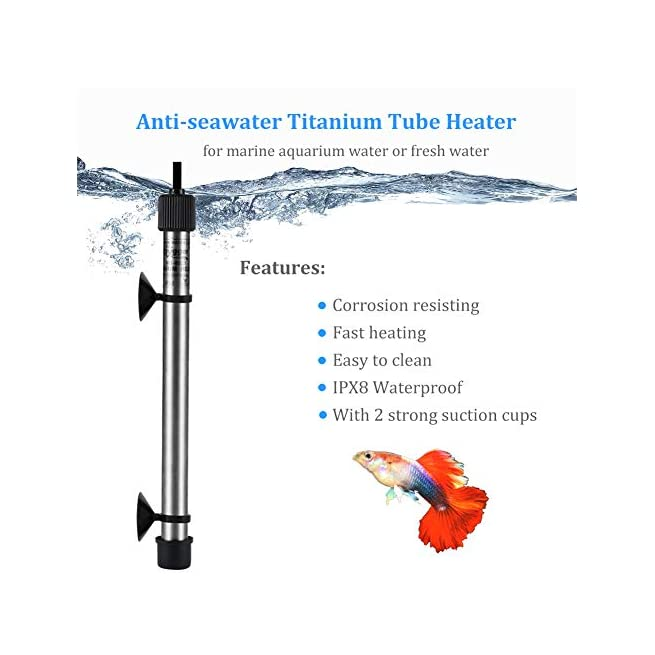 for Fish Tank 5-120 Gallon Digital Submersible Heater with External IC Thermostat Controller and Thermometer Hygger Titanium Aquarium Heater for Salt Water and Fresh Water