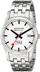 Mondaine A667.30340.16SBM Retro Day and Date Stainless Steel Bracelet Men's Watch