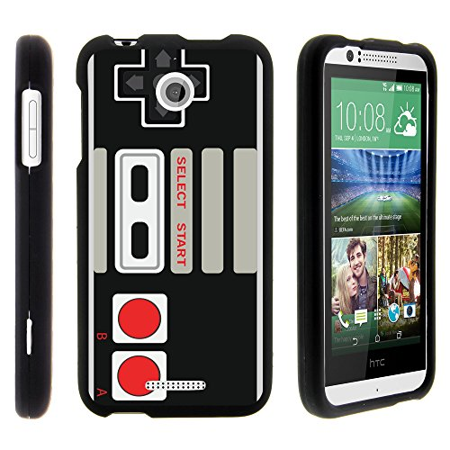 HTC Desire 510 , Hard Snap On Case + Screen Protector Film + Stylus Pen Black by MINITURTLE - Game Controller