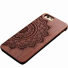 Changeshopping for iPhone 6 Natural Carved Wood Wooden Hard Case Cover Protect Pattern