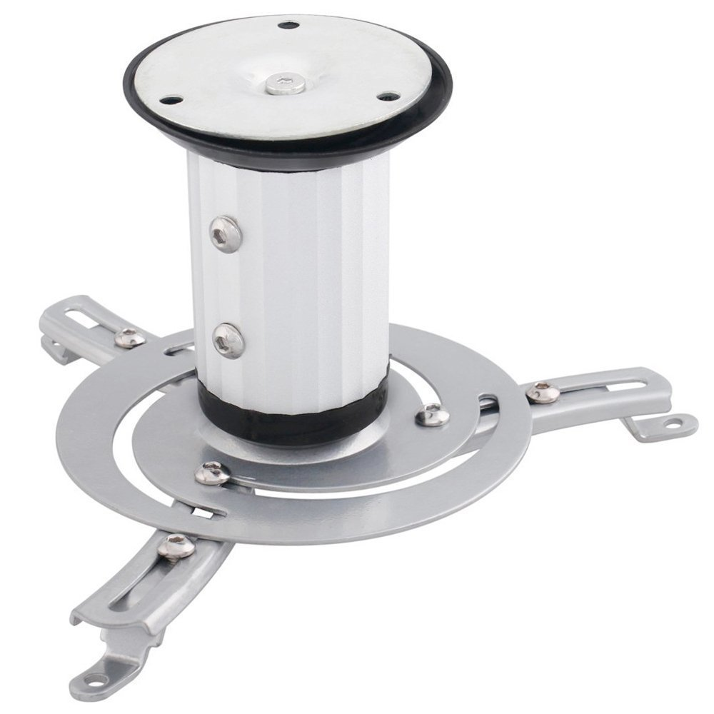 Happyjoy Universal LCD/DLP Favorable Projector Ceiling Mount Bracket with Adjustable Extending Arms, Swivel 360 Degree